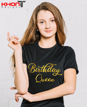 top,birthday queen,birthday gift,queen,queen tshirt,black t-shirt,women t shirts,birthday,birthday gift for her,t-shirt,tees