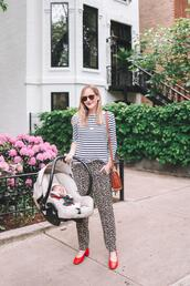 kelly in the city - a preppy chicago life,style and fashion blog,blogger,jewels,pants,shoes,t-shirt,sunglasses