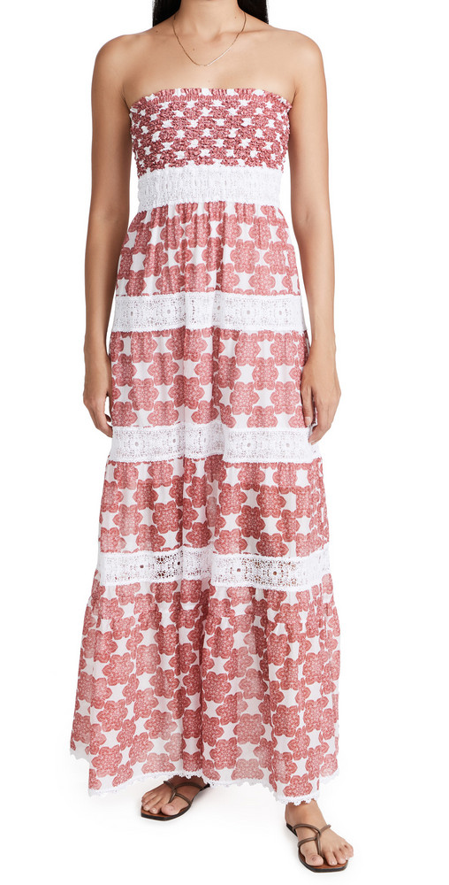 Temptation Positano Almafi Dress in red / white
