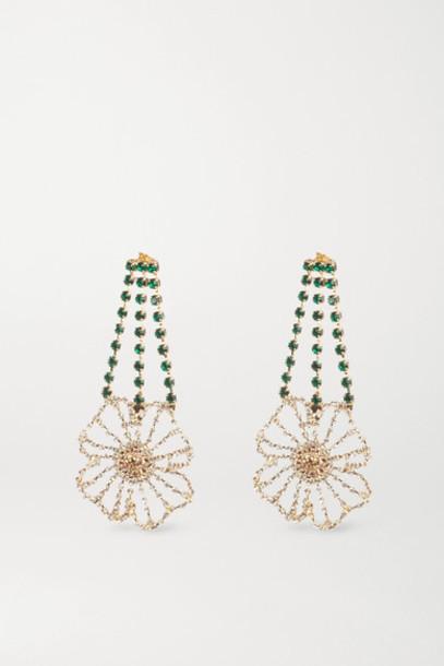 Rosantica - Gold-tone Crystal Earrings