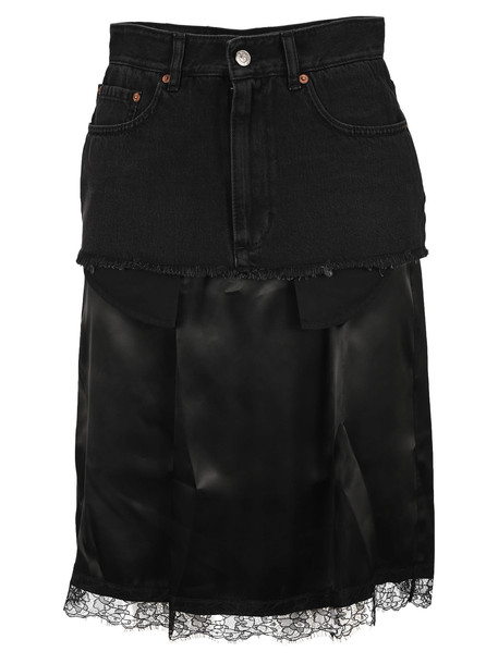 MM6 Maison Margiela Mm6 Layered Midi Skirt in black