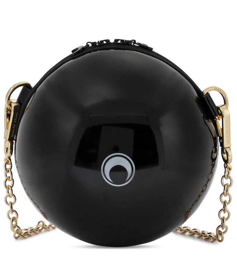 Marine Serre Ball Mini PVC shoulder bag in black