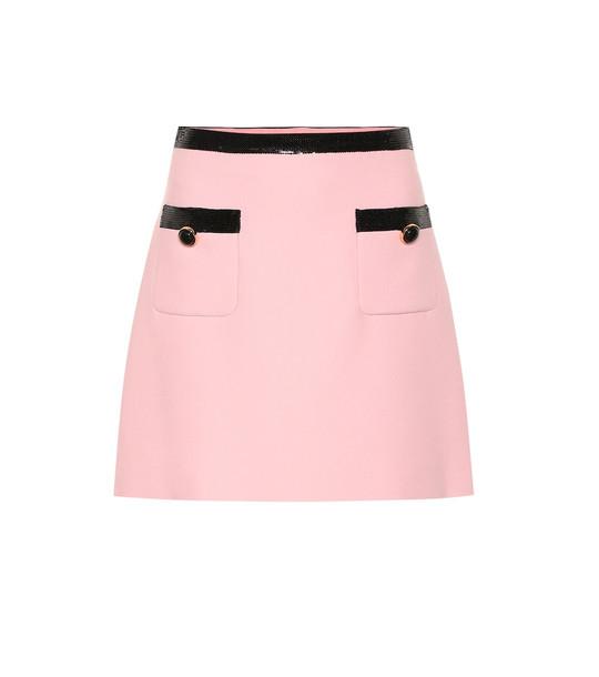 Miu Miu Sequined cady miniskirt in pink