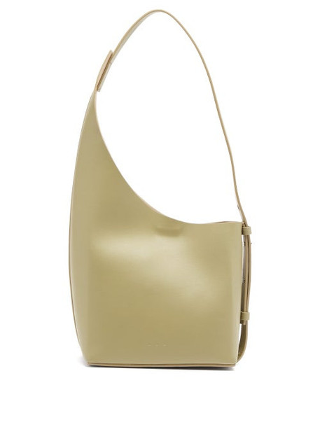 Aesther Ekme - Demi Lune Leather Bucket Bag - Womens - Green