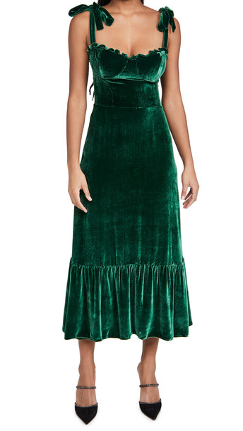 Reformation Antoinette Dress in emerald