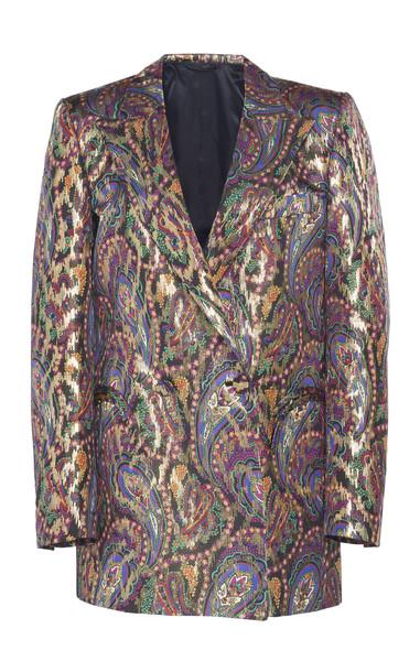 Blazé Milano Sultana Paisley Silk Blazer Size: 2 in multi