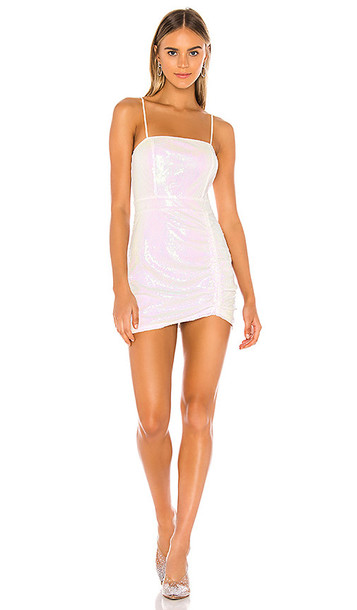 superdown Harlee Sequin Cami Dress in White,Pink