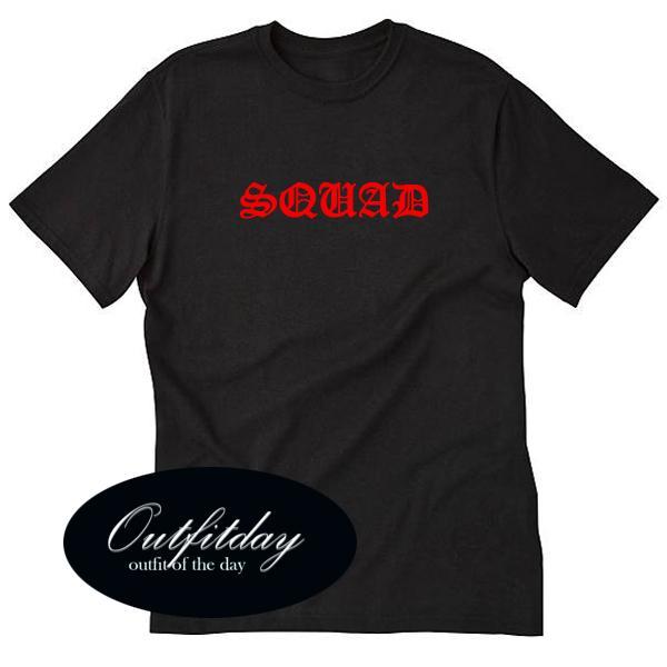 Squad Font Tshirt