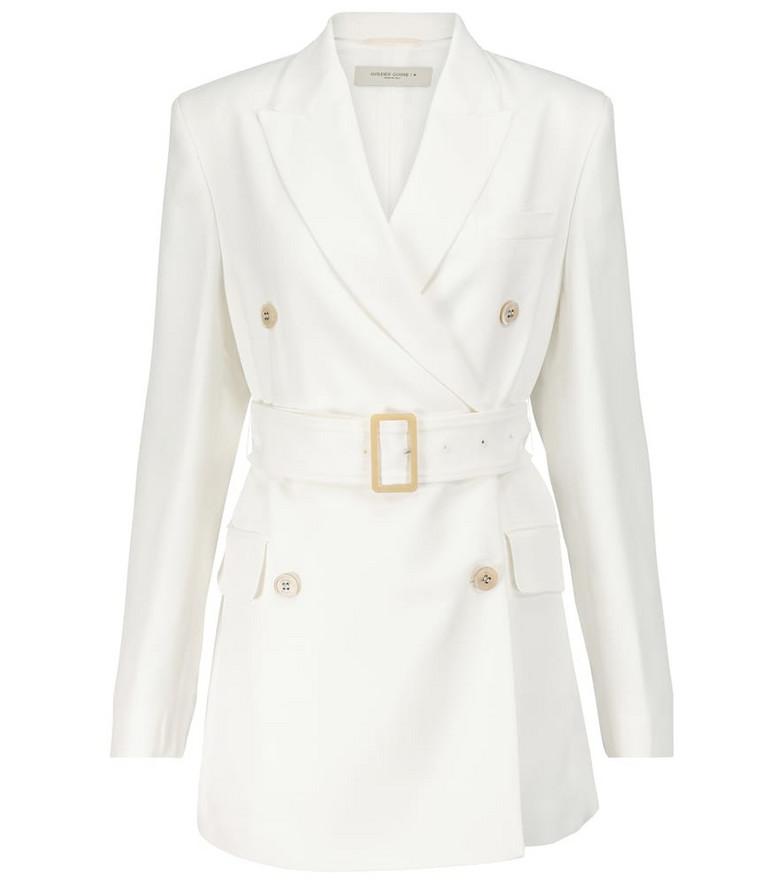 Golden Goose Clizia belted blazer in white