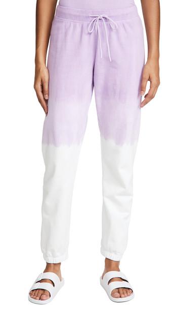 Splits59 Charlie Sweatpants in lavender / white