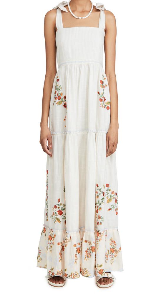 Agua Bendita Helina Sunbaze Maxi Dress in beige