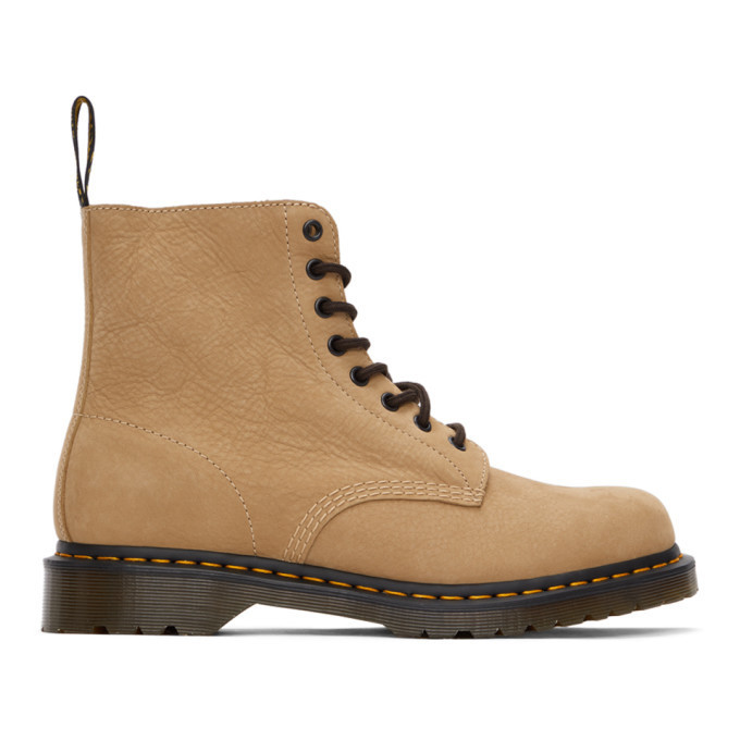 Dr. Martens Tan Nubuck 1460 Pascal Boots in sand