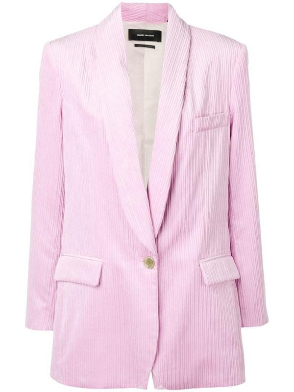 Isabel Marant large corduroy blazer in pink