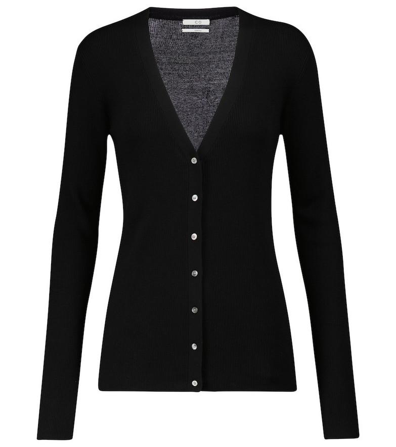 Co Silk cardigan in black