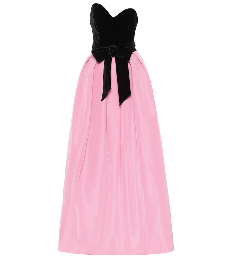 Monique Lhuillier Silk gown in pink
