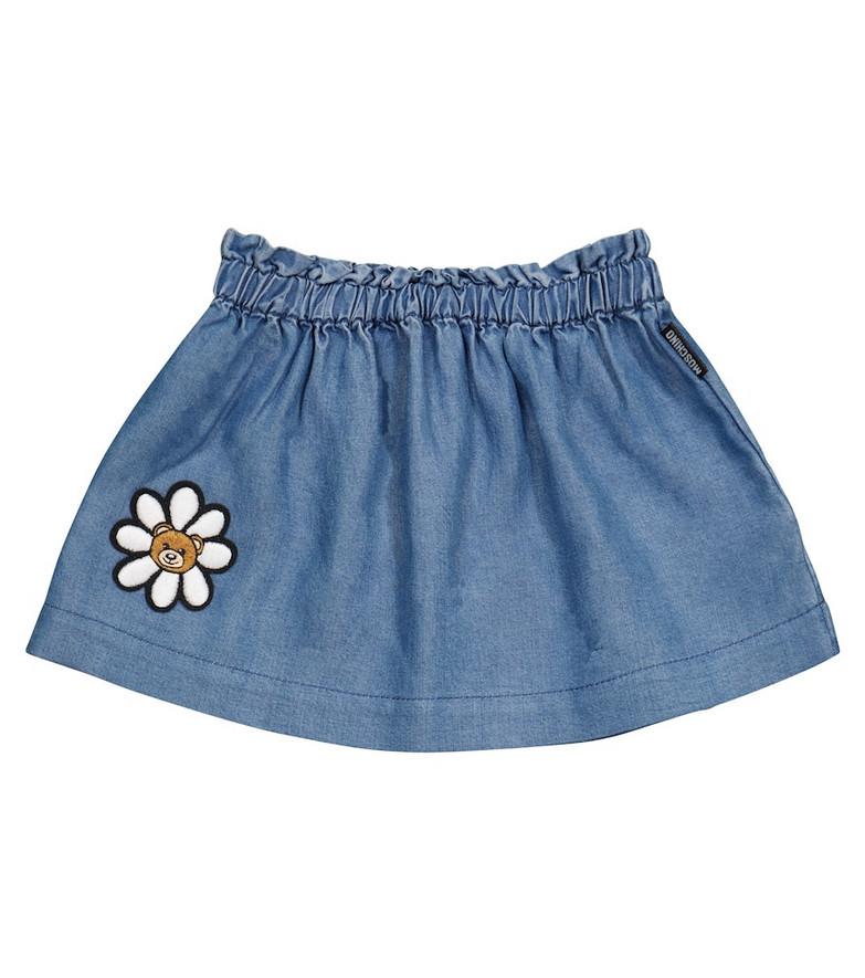 Moschino Kids Baby denim skirt in blue