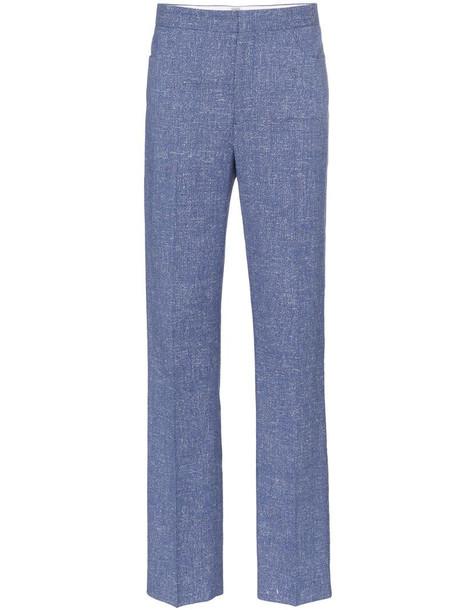Totême Troia slim-leg trousers in blue