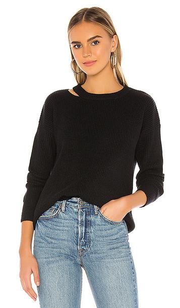 superdown Samantha Oversized Knit Sweater in Black