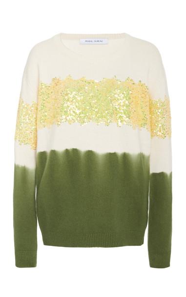 Prabal Gurung Sequin Embellished Cashmere Sweater in multi