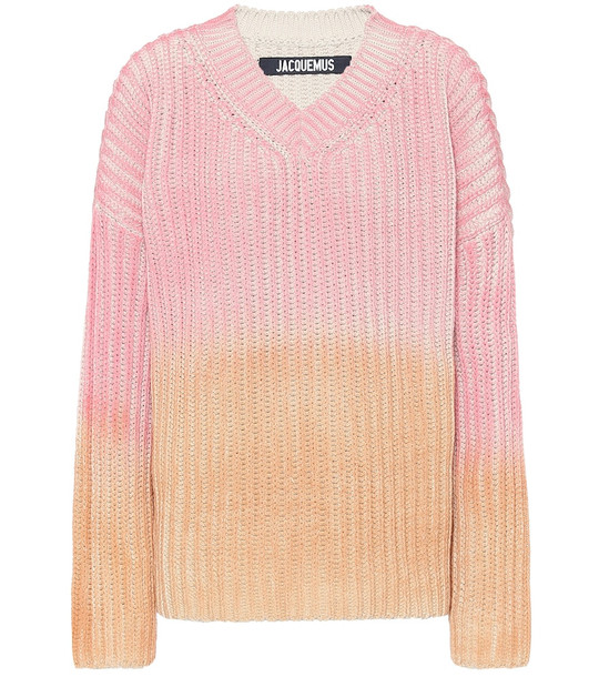 Jacquemus Le Pull Soleil cotton sweater in pink