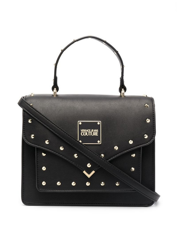 Versace Jeans Couture stud-embellished satchel in black