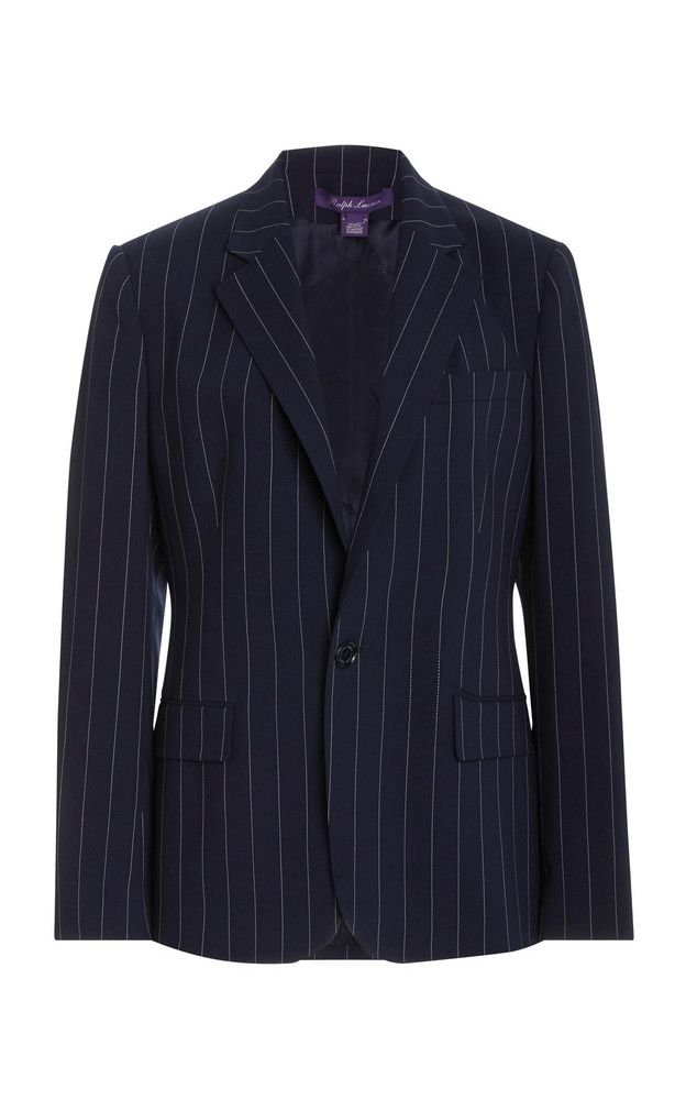 Ralph Lauren Skylar Striped Wool Jacket in navy