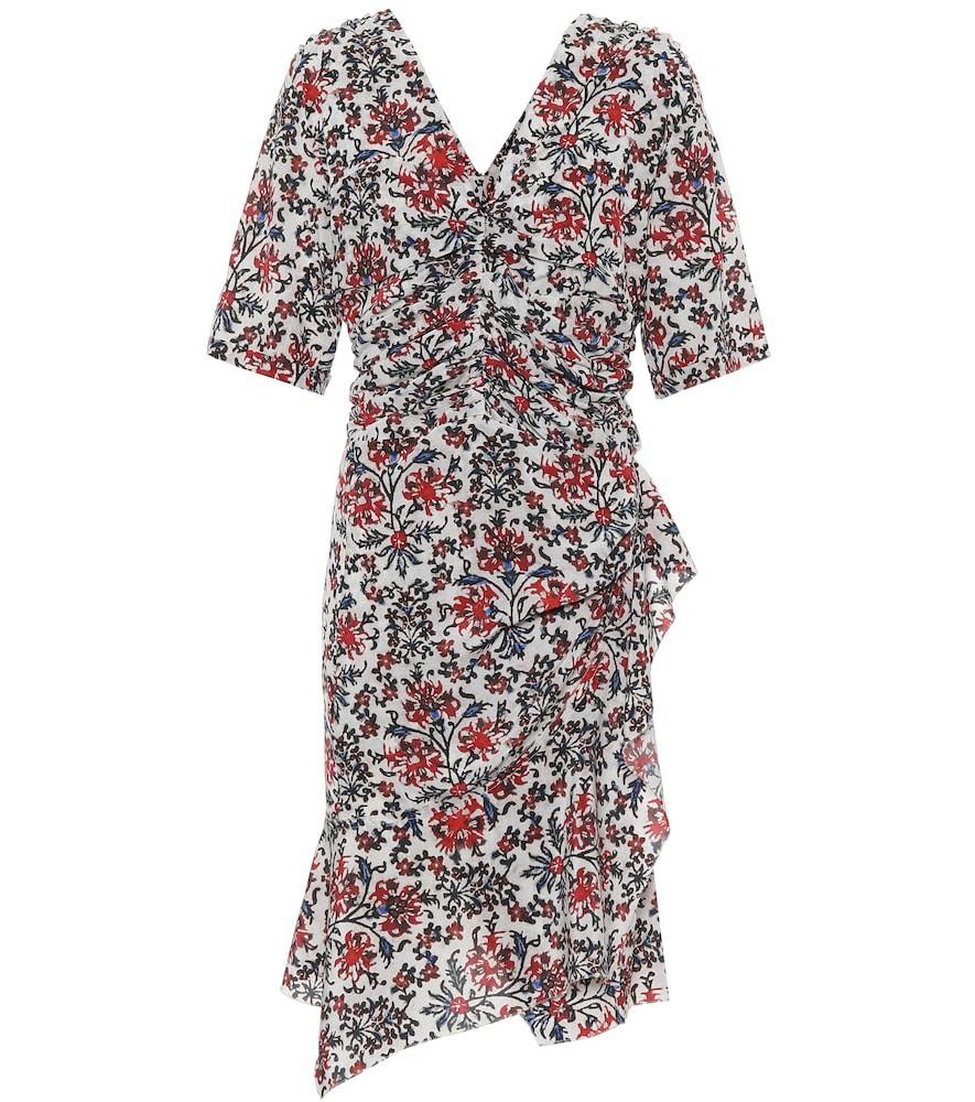 Isabel Marant Arodie floral stretch-silk minidress in red
