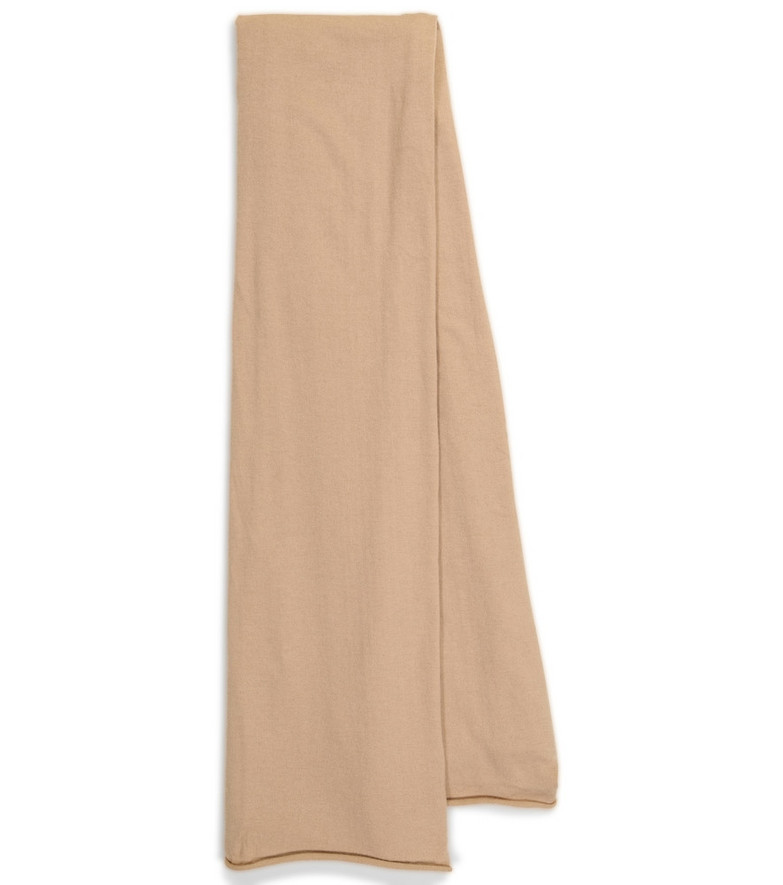Extreme Cashmere N° 181 Cloth cashmere-blend scarf in beige