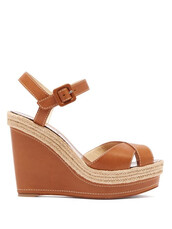 wedges,leather wedges,leather,tan,shoes