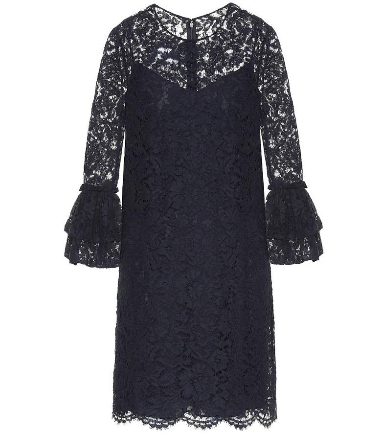 Valentino Lace midi dress in blue