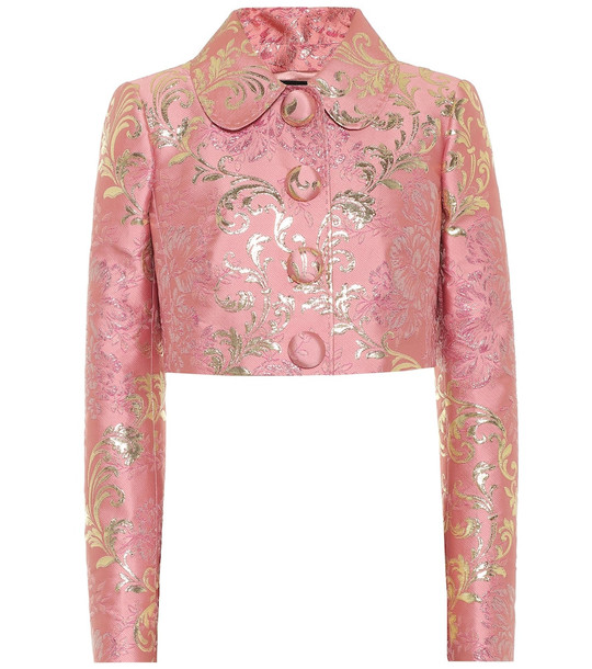 Dolce & Gabbana Brocade lamé jacket in pink