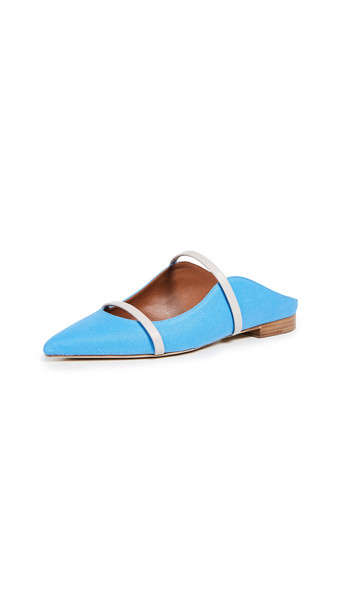 Malone Souliers Maureen Flat Mules in blue