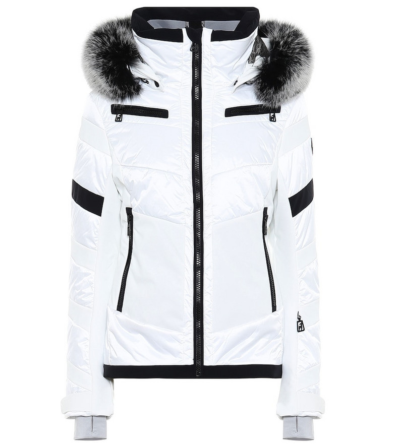 Toni Sailer Cosima fur-trimmed ski jacket in white