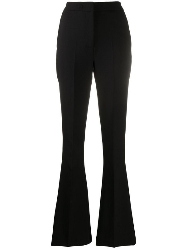 Manuel Ritz flared leg trousers in black
