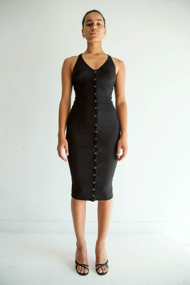 The Line by K HARPER DRESS JET BLACK