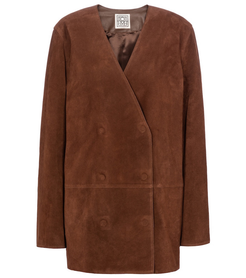 Toteme Suede blazer in brown