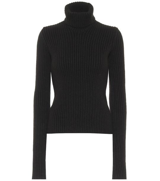 Bottega Veneta Ribbed-knit wool-blend sweater in brown