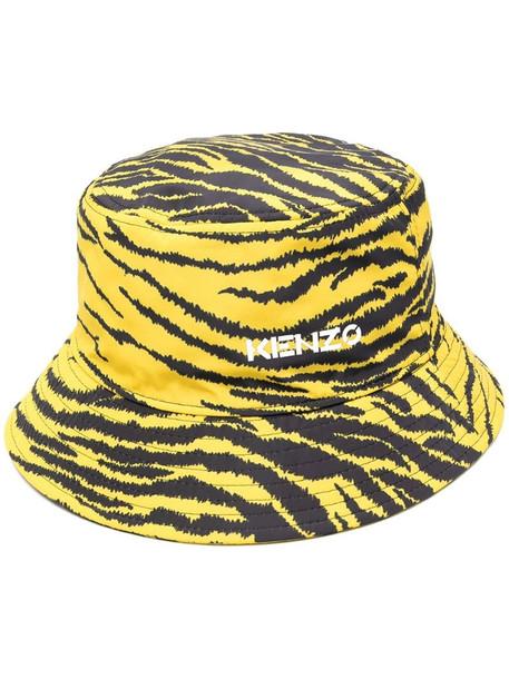 Kenzo zebra-print bucket hat in yellow