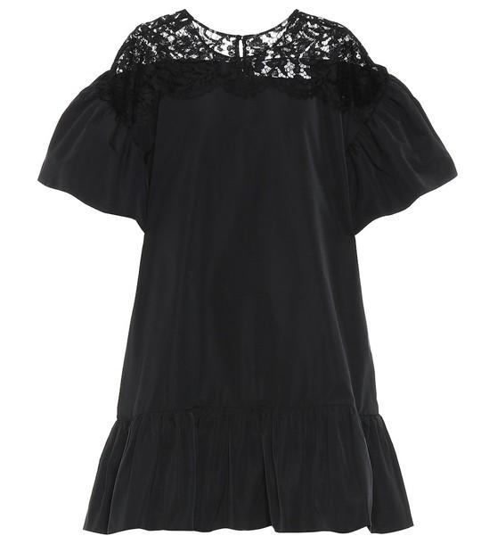 Valentino Cotton-blend dress in black