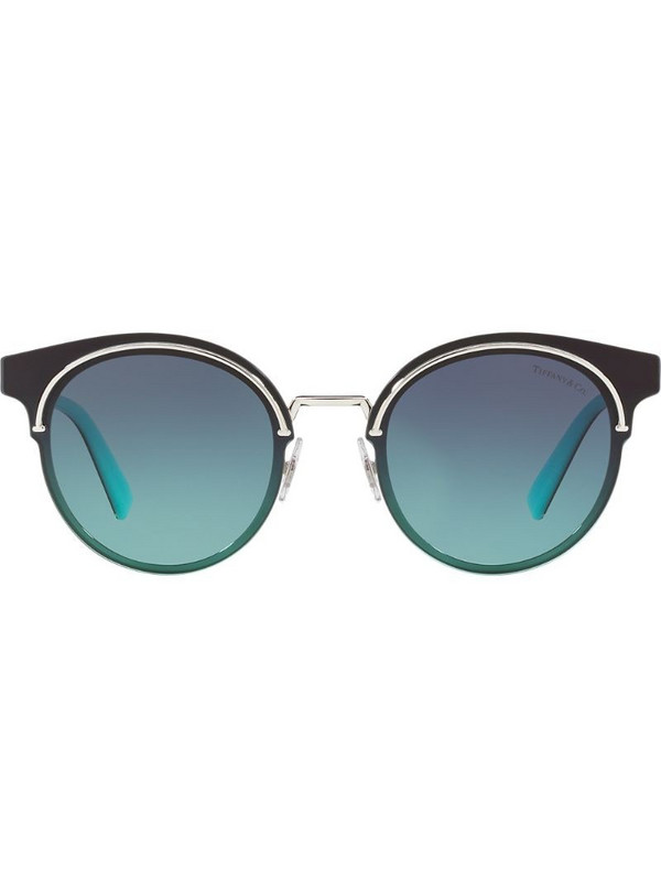 Tiffany & Co Eyewear round tinted sunglasses in silver