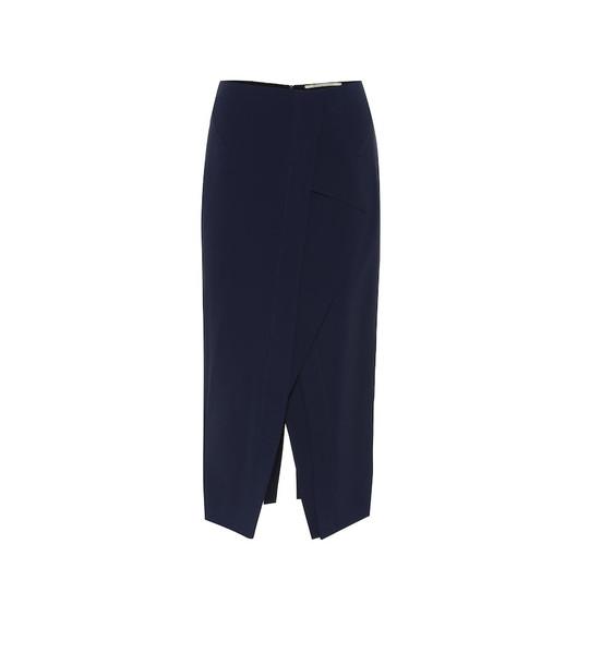 Roland Mouret Lugo high-rise pencil skirt in blue