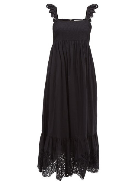 Apiece Apart - Quince Broderie Anglaise Cotton Dress - Womens - Black