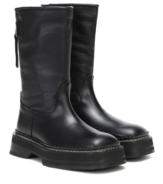 Eytys Tucson leather boots in black