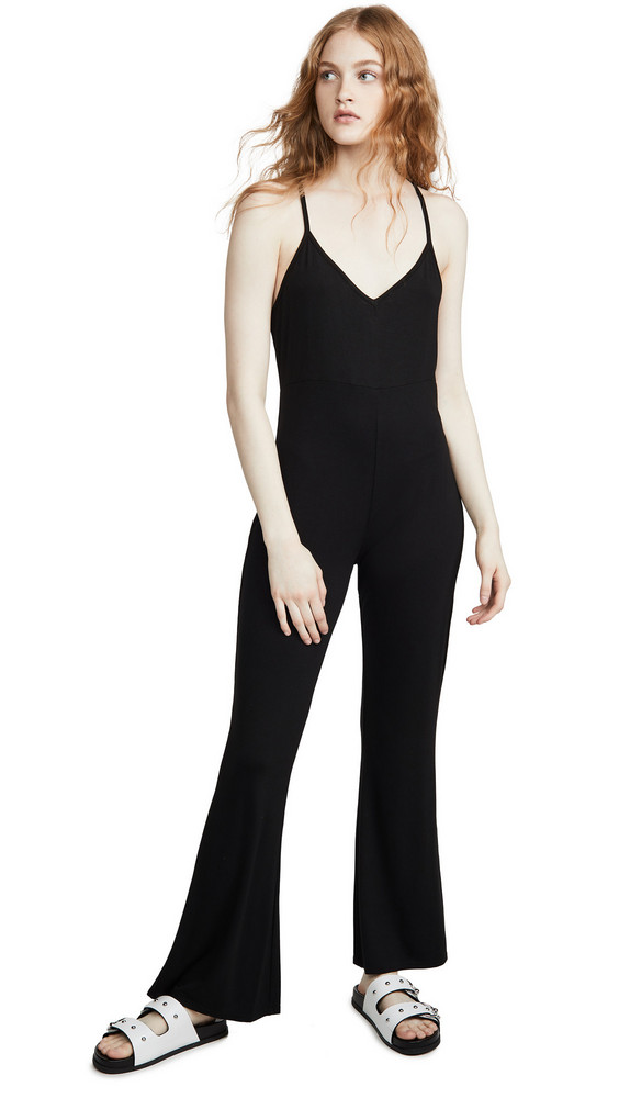 Chaser Cool Jersey Racerback Jumpsuit in black
