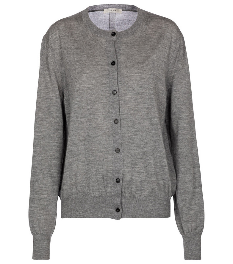 The Row Battersea cashmere cardigan in grey