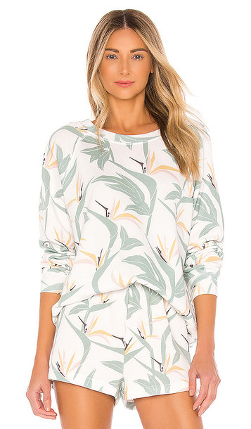 Wildfox Couture Bird Of Paradise Sommers Sweatshirt in Green