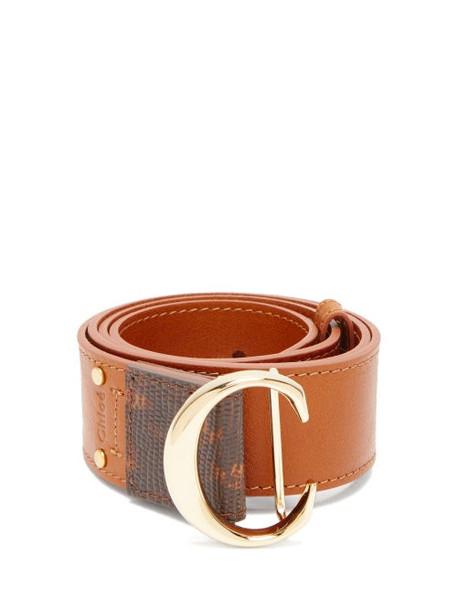 Chloé Chloé - C Buckle Leather Belt - Womens - Tan
