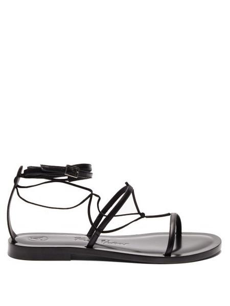 Álvaro Álvaro - X Kim Hersov Leather Sandals - Womens - Black