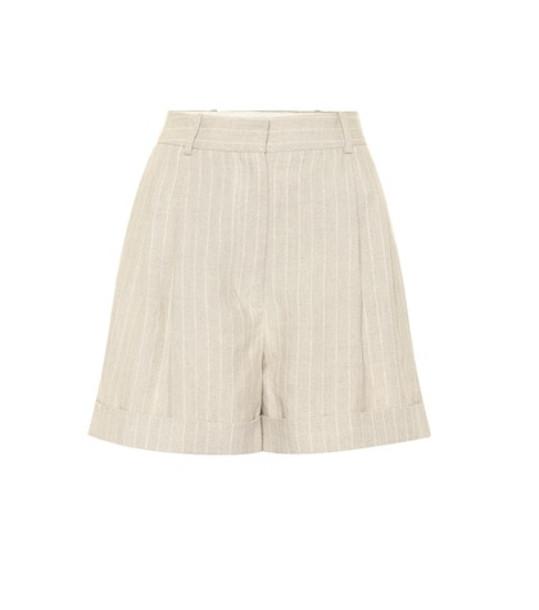 Racil Max linen shorts in grey