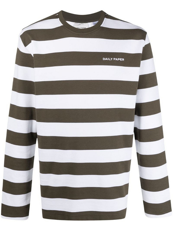 Daily Paper striped sweatshirt in green